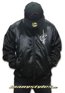 Satin Teamjacke New Era Cleveland Cavaliers NBA Black Sateen Jacket M, XL o XXL