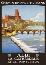 ALBI CHEMIN DE FER D'ORLEANS Vintage French Travel Poster. 250gsm A3 Print