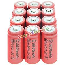 12x C 10000 mAh Ni-MH Colore Rosso batteria ricaricabile Stati Uniti d'America