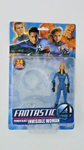 "Toy Biz Marvel Fantastic 4 Invisible Woman 6"" Action Figure NEW Unopened RARE"
