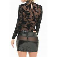 -20% sur Mini-jupe sexy coquine résille et vinyle - Sanae - Patrice Catanzaro