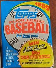 1989 Topps Major League Baseball Cards - 2 Packs