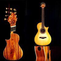 8 String Koa Parlor Guitar 12-fret Design (inspired by Taylor baritone)
