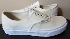 VANS Authentic Gore Skate Shoes Mens 7.5 Womens 9 Bone White Leather Canvas