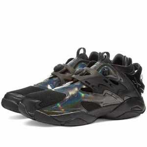 Reebok Juun.J Pump Court Men's Shoes Triple Black Sneakers FZ3890 Hi Top