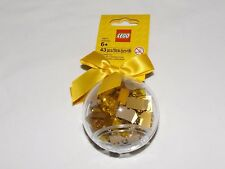 LEGO Holiday Ornament with GOLD Bricks Christmas Bauble with ribbon 853345