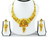 Ethnic Indian Bollywood Gold Plated Necklace Earrings Set Traditional Jewelry A7