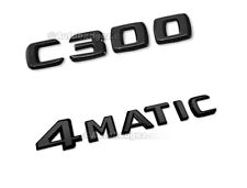 NEW Adhesive C300 Gloss Black Badge Emblem fits Mercedes Benz W204 C300 4MATIC