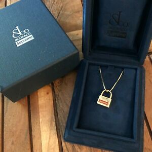 Supreme /Jacob & Co. 14K Gold Lock Pendant Necklace *IN HAND* Fast Shipping