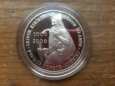 2000-P Leif Ericson proof silver Iceland 1000 Krone @@ must see@@@