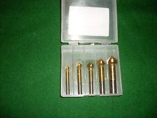 HSS-TIN-Kegelsenker-Box DIN 335/C 90° 5-tlg.   6,3  8,3  10,4  12,4  16,5 mm
