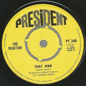 The Reaction - That Man 1968 UK Soul/Mod 45 VG