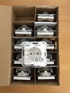 10x GIRA 018803 SCHUKO-Steckdose reinweiß glänzend System 55