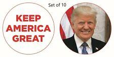 "Set 10 Donald Trump 2020 Campaign Pin 2.25"" Lenticular / Keep America Greet MAGA"