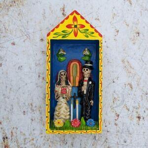 Tall Wedding Retablo Dias de los Meurtos, Day of the Dead, Peru Latin America
