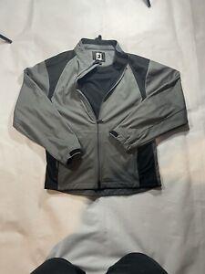 FootJoy FJ Gray Softshell Full-Zip Tech Golf Jacket  Mens Small