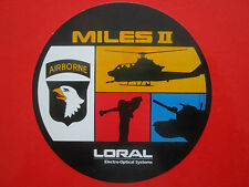 AUTOCOLLANT STICKER AUFKLEBER LORAL ELECTRO OPTICAL SYSTEMS MILES II AIRBORNE