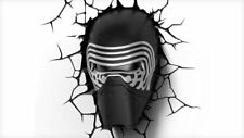 New STAR WARS KYLO REN 3D FX Deco Wall LED Light Bedroom Nightlight