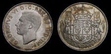 Canada 1941 King George VI Silver Fifty 50 Cent Piece MS-62