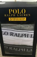 BNIB MENS POLO RALPH LAUREN 3 PACK LOW RISE BRIEFS/PANTS/UNDERWEAR SIZE XLARGE