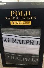 BNIB MENS POLO RALPH LAUREN 3 PACK LOW RISE BRIEFS/PANTS/UNDERWEAR SIZE SMALL