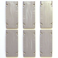 Lego 6x Genuine Technic Medium Stone Grey 5x11 Studless Panels 64782 4621555 NEW