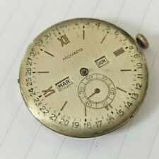 MOVADO TRIPLE CALENDAR MANUAL WIND CALIBER 470 SWISS MOVEMENT FOR PARTS