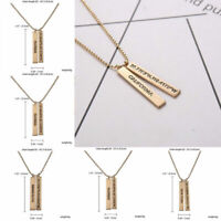 Womne Men Lettering Pendant Necklace Choker Drop Sweater Chain Gift Jewelry