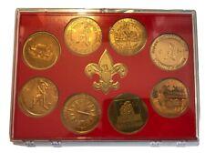 1973 Boy Scout National Jamboree Challenge Coin / Token Set (8)