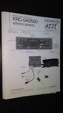 New listing Kenwood krc-540 550 service manual original repair book stereo tape car radio