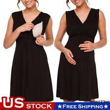 Maternity Women Nursing Tank Vest Dress Summer Casual Pregnant T-Shirt Clothes