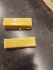 2 Pure Beeswax blocks - 100% pure and natural beeswax