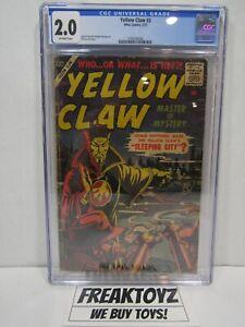 Yellow Claw #3, CGC Grade 2.0, Atlas Comics 2/57