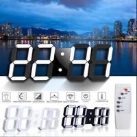 Newest Modern  Digital LED Table Night Wall Clock Watch 24/12-Hour Display Alarm