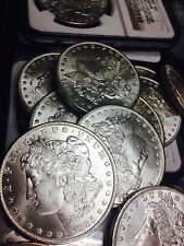 1 Unc BU 1878-1904 P/O/S/CC Morgan Silver Dollar Lot US Coin Collection NGC/PCGS