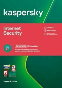 KASPERSKY INTERNET SECURITY 2021 1 DEVICE 1 Yr PC/Mac/iOS ANDROID EMAILED KEY