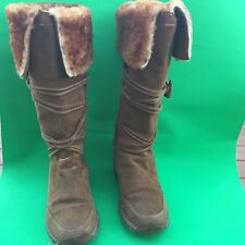 RUFF HEWN women's fashion brown leather boots size--6.5M