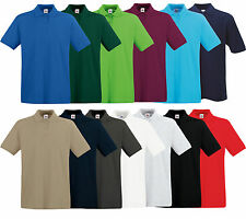 4er FRUIT OF THE LOOM PREMIUM POLOSHIRT M L XL XXL XXXL 100% BAUMWOLLE SHIRTS