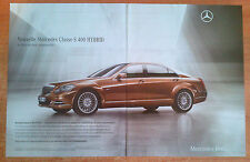 Publicité Advertising MERCEDES-BENZ classe S400 hybrid ( double page )