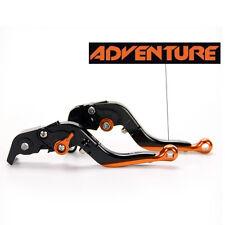LOGO Folding extend brake clutch levers For KTM 640 Adventure/LC4-E Supermoto 99