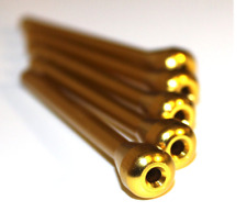 5 Pack Gold Snorting Straw Small Metal for Snort Snuff Sniffer Snorter Coke