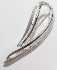 Belle broche bijou vintage signé SARAH COV finement gravé couleur or blanc *3486