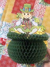 Vintage Beistle St. Pats Patrick's Day Honeycomb Paper Decor Leprechaun Goldcoin