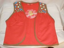 Agatha Luiz de la Prada Vest Childs Girls size 12 op art Vibrant Colors NWT #585