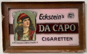 Glasschild, Glastafel, Eckstein, Da Capo, Cigaretten, Eckstein und Söhne