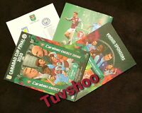 Manchester City v Aston Villa 2020 Carabao EFL Cup Final Programme + teamsheet!!