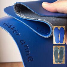 100% Non-Toxic Natural Rubber Anne Yoga Mat Shoe Insole Cushion Blue 3mm 2-Pair
