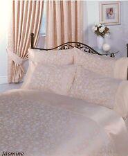 SINGLE BED DUVET COVER SET JASMINE JACQUARD POLYCOTTON LUXURY BEDDING CREAM GOLD