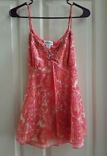 Maternity Tank Top/Blouse with Gorgeous Beading w/Adjustable Straps / M / BNWOT