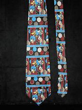 Disney Mickey Unlimited Mens Neck Tie Donald Duck Pluto Goofy Blue Black Red